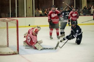 Kyle Kortebein notches his second point of the night by scoring on a rebound to tie the game at 2