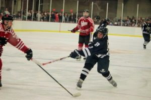 Hunter Byram takes a shot in action against IU on Thursday.